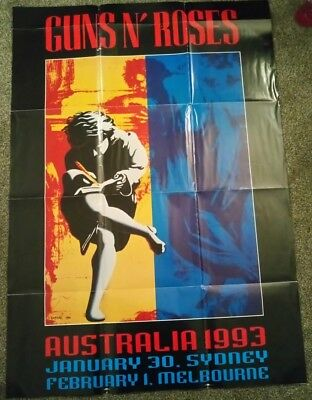 Massive Guns N Roses Use Your Illusion Poster Australia 1993 **RARE**