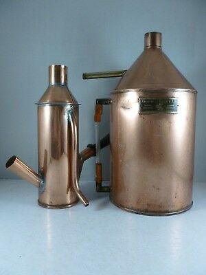 SUPERB vintage Griffin & Tatlock Copper still / boiler Scientific Instruments