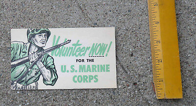 Original 1940s WW2 US Marine Corp Recruitment Mailer USMC