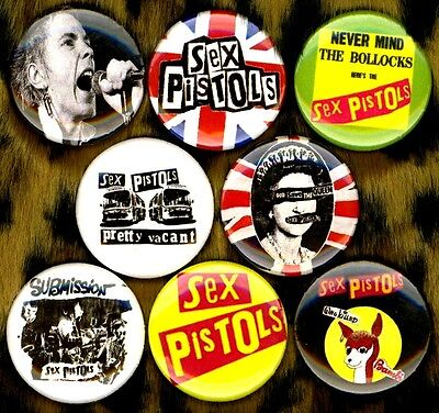 """Sex Pistols 8 NEW 1"""" buttons pin badge UK punk johnny anarchy god save the queen"""