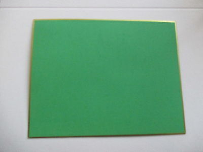 50 Green with gold edge  letterpress printers cards. small