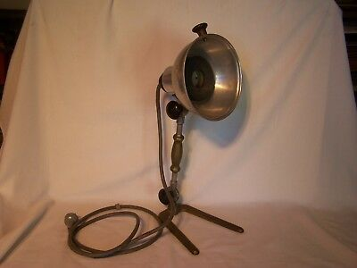 Vintage Electric Heat Lamp Bowker Infrared Lighting Health Care Desk Lamp