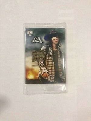 In Memory of Carl Grimes The Walking Dead Supply Drop Topps Wardrobe Relic Car