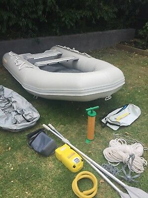 Inflatable Boat - Island Inflatable IA365 - 3.65 metre Air Deck (light grey)