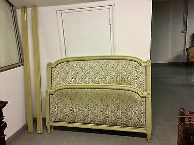 Painted bed wood Louis XVI style