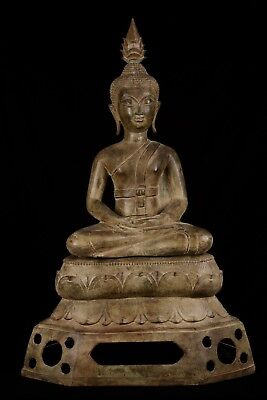 Antique 19th Century SE Asia Laos Meditation Buddha Statue - 101cm/40""