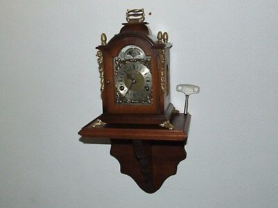 James Powell 8 Day Bracket/Mantle Clock,Console Moon phase,Pendulum 2 Bells