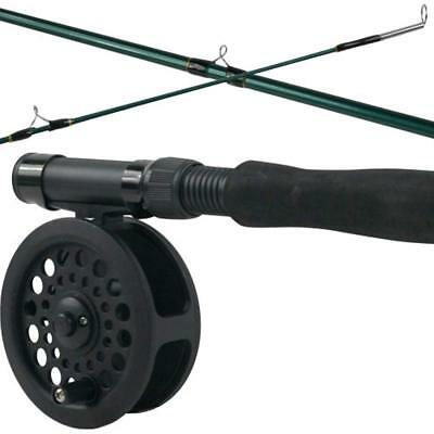Fly Fishing Rod And Reel Combo Kit Crystal River Line Fish Flies Outdoor Lakes