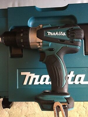 Makita DHP 458 18v Combi Drill, Fast Charger And Makpak Case