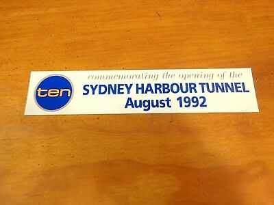 ***sydney Harbour Tunnel Opening Sticker-Free Post***