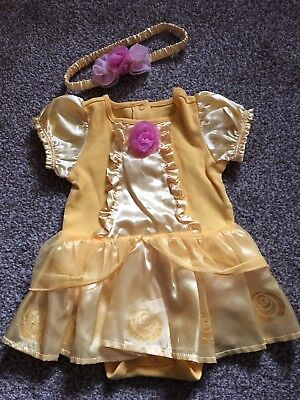 Pretty Disney Store Belle Tutu Bodysuit & Headband 9-12 Months Beauty & Beast