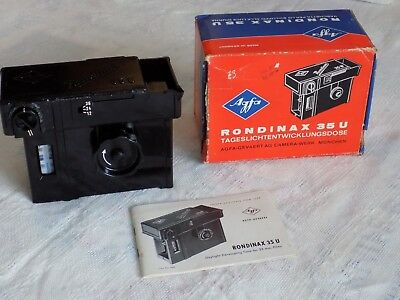 Boxed Agfa Rondinax 35 U Daylight Developing Tank Excellent Condition