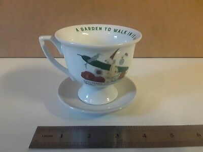 HENDRICKS GIN  TEA CUP AND SAUCER  - The Unusual Garden to walk in