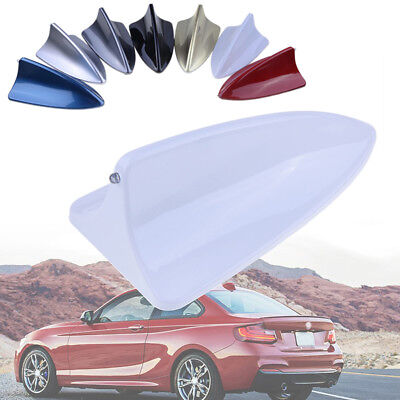 Universal White Shark Fin Roof Dummy Antenna Aerial Car Decoration For BMW AUDI