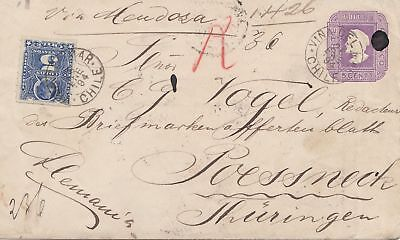 Chile: 1894: Vina del Mar to Poessneck/Germany