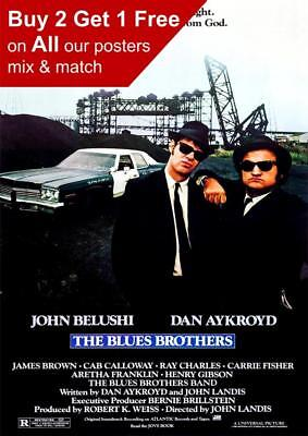The Blues Brothers 1980 Movie Poster A5 A4 A3 A2 A1