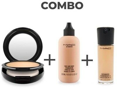 MAC Studio Compact Powder+Face and Body Foundation+Matchmaster Spf 15 Foundation