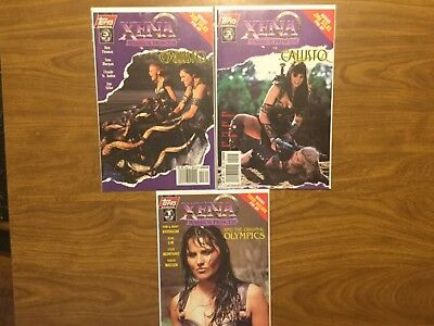 Topps Comics 1998 Xena Warrior Princess 1-3 Complete Lucy Lawless