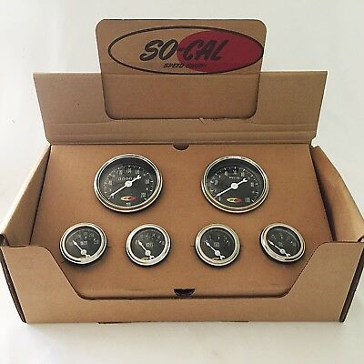 So-Cal Speed Shop 6 Gauge Set- New Style