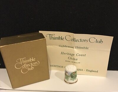 Goldcrest Thimble Bone China Heritage Coast from the Collectors Club TCC T-506