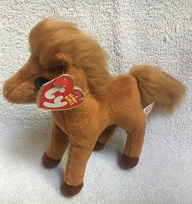 NWT RETIRED Ty Beanie Babies Gallops the Horse Plush Toy Pony