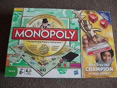 Monopoly Championship Edition  board game
