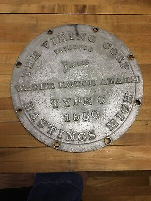 Vintage Water Meter Cover Viking Corp Hastings Mi 1950