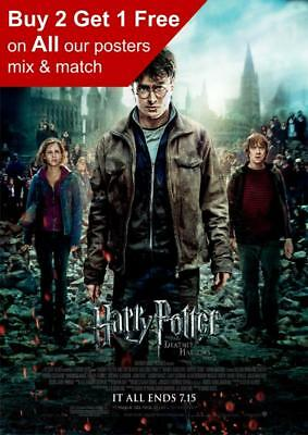 BUY 2 GET 1 FREE! A3 HP01 HARRY POTTER PICTURE ART POSTER A4