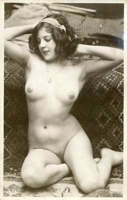 BEAUTIFUL NUDE FERNANDE JEAN AGELOU C. 1910-1920s OLD ORIGINAL postcard