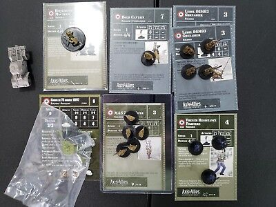 Axis & Allies French Army 16 Miniatures MAS Resistance Lebel see pics