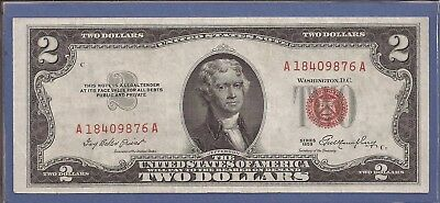 1953 $2 United States Note (USN),Red Seal Note,Choice Crisp VF,Nice!