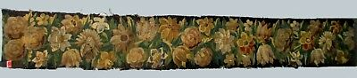 A Nice Antique Tapestry Border With Flowers
