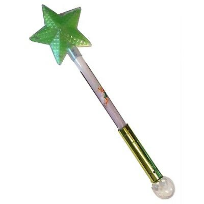 NEW Disney Fairies Light Up Tinker Bell Star Glow Wand With Crystal Ball Party