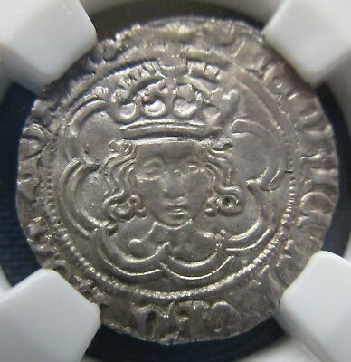 England Henry Vii 1/2 Groat 2P S-2207 Canterbury Ngc Au-55 None Graded Higher