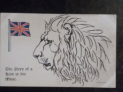 Postcard WW1 - The Glory of a Lion is his Mane.