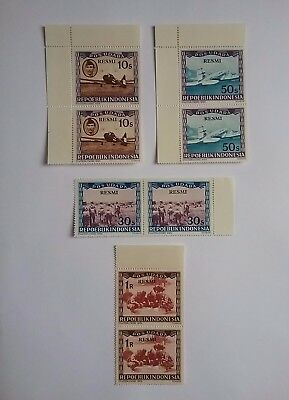 Indonesia 1948/49 stamps pairs
