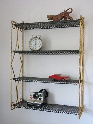 Vintage Mid Century Modernist 50's 60's French String Shelving Unit
