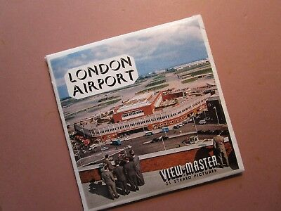 Vintage View-Master LONDON AIRPORT, ENGLAND packet C283E