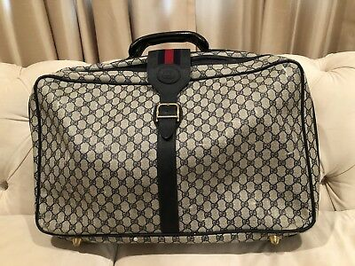 a632228a0 Authentic Vintage GUCCI Travel Bag Carry On Weekender Suitcase Luggage GG  Logo