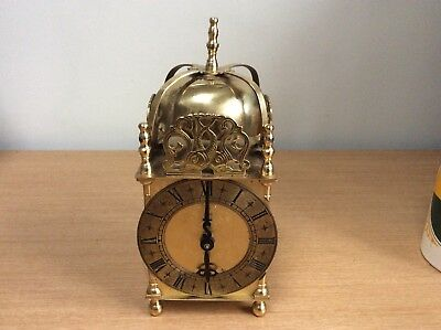 Antique Smiths Large Dome Lantern Brass Carriage Clock