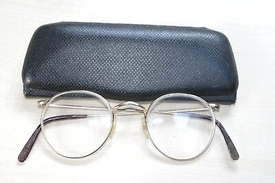 Vintage Gold Coloured Spectacles Glasses