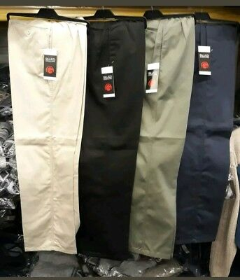 Men's New Rugby Trouser Uk Made Casual Smart Pant Elasticated Waist Plus Size