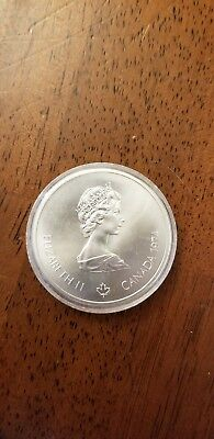 1974 Canada Olympic Sterling Silver 10 Dollar Coin Rare lacrosse logo reverse .