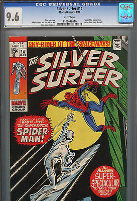 Silver Surfer #14 (Marvel 1970) CGC 9.6 White Pages