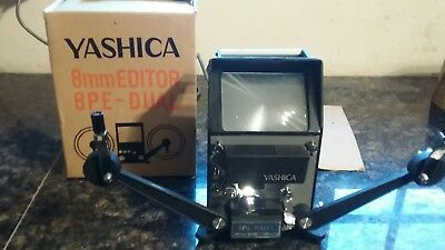 Yashica 8PE-DUAL Super 8mm Reg Film Editor JAPAN Solid Metal Body with box boxed