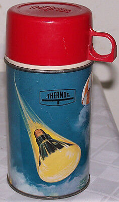 Vintage 1963 Space Exploration King-Seeley Lunchbox Thermos #2856 - Nice!