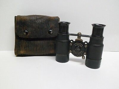 Antique Wollensak Biascope Binoculars, Opera Glasses with Original Case