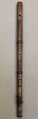 Antique 19Th Century Firth, Son & Co Maple Boxwood & Brass One Key Flute