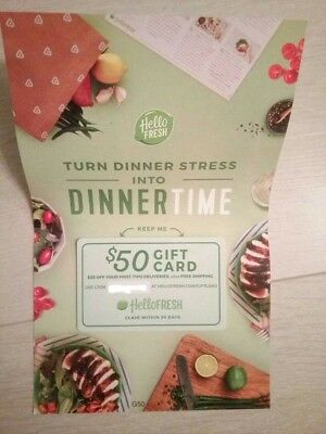 $50 HelloFresh Gift Card - $25 Off Of You First Two (2) Boxes E-MAIL DELIVERY