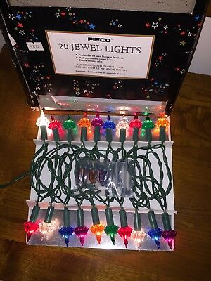 Vintage Christmas Lights Pifco Jewel Lights boxed working with spare bulbs